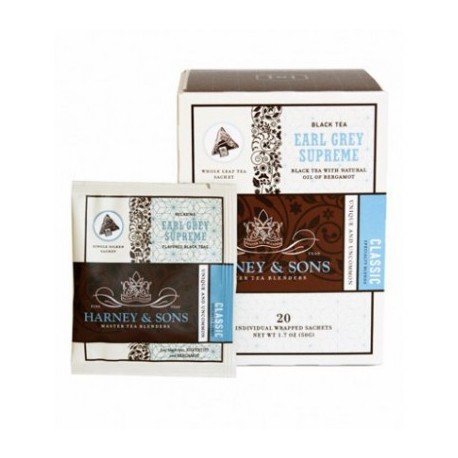 Harney & Sons Earl Grey Supreme, Wrapped Sachets