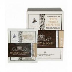 Harney & Sons Bílý čaj s vanilkou a grapefruitem, Wrapped Sachets, 20 pyramidových sáčků