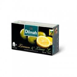 Dilmah Lemon & Lime, čaj černý, citron a limetka, 20x1,5g