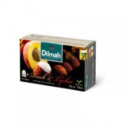 Dilmah Peach & Lychee, čaj černý, broskev a liči čínské, 20x1,5g