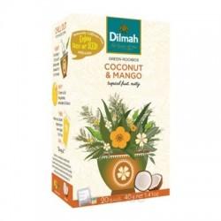 Dilmah Coconut & Mango, zelený rooibos, kokos a mango, 20x2g