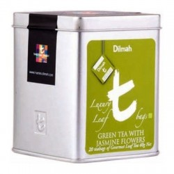 Dilmah T-Luxury Green Tea with Jasmine Flowers, hedvábný pyramidový sáček, 20x2g