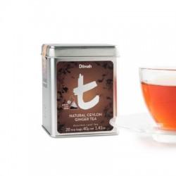 Dilmah T-Luxury Natural Ceylon Ginger Tea, hedvábný pyramidový sáček, 20x2g