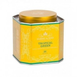 Harney & Sons Royal Tropical Green, 30 pyramidových sáčků