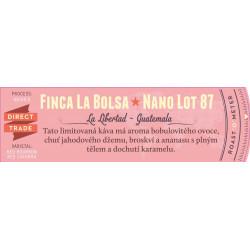 La Boheme Café Guatemala Finca La Bolsa Nano Lot 87+ Washed - 226 g, zrnková káva