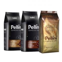 Pellini Gourmet Set 3x1 kg, zrnková káva