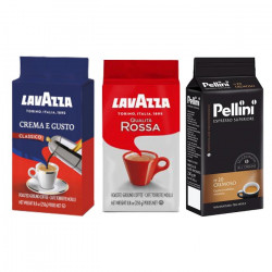 Lavazza a Pellini Coffee Ground Set 3x250 g, mletá káva