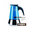 Moka konvice Pezzetti SteelExpress (4 šálky) - modrá