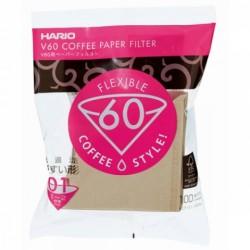 Papírové filtry Hario Misarashi V60-01 - hnědé