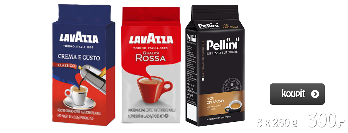 Lavazza a Pellini Coffee Ground Set (3 x 250 g)